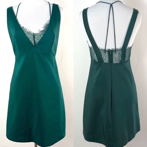 225cd18522b28 Zara Trafaluc Lace Detail Green Mini Dress. M 5b3cc8159519961956e4806f